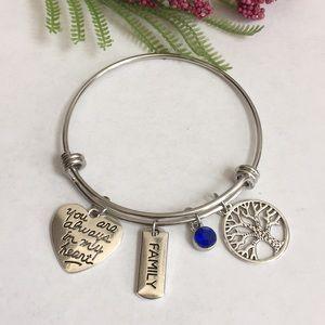 Jewelry - Nwt always in my heart, family tree charm bracelet